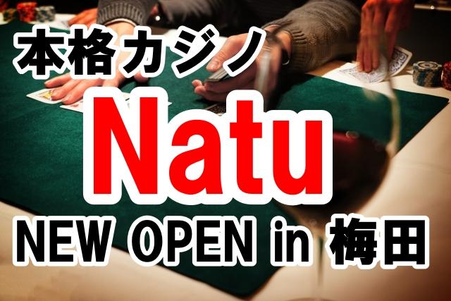 本物を使った本格カジノバー「Natu」が梅田にオープンします
